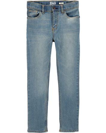 Jeans fuseau - délavage léger régul...