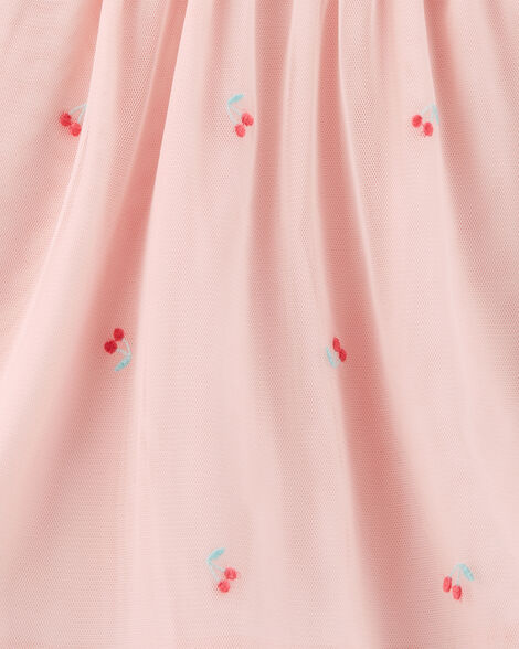 Cherry Tulle Holiday Dress