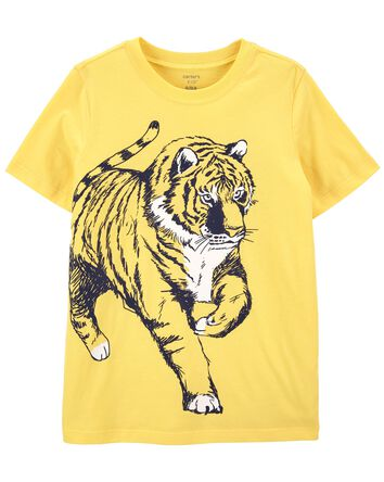 T-shirt en jersey à tigre