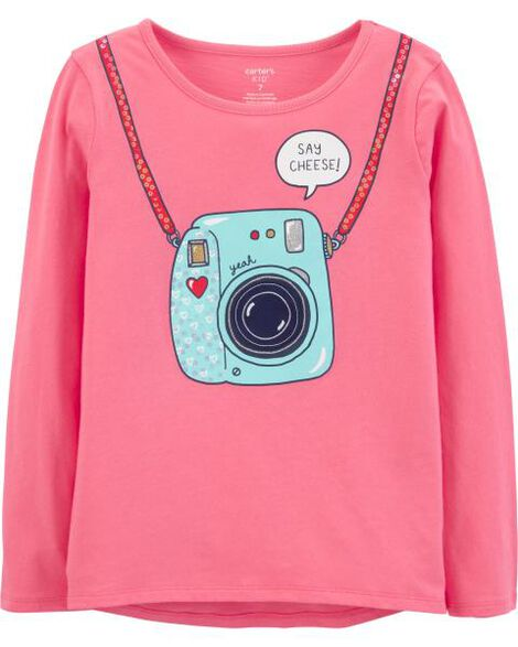 Camera Peek-A-Boo Jersey Top