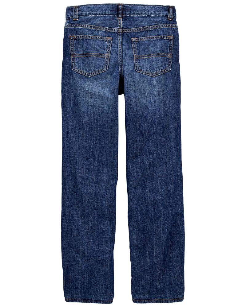 Jeans doublé de micromolleton - délavage galactique indigo, , hi-res