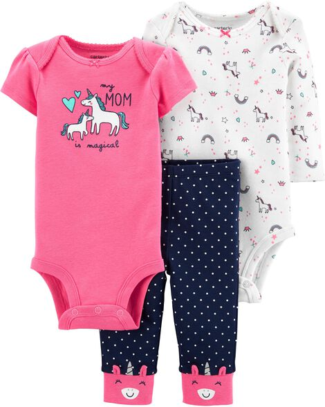 3-Piece Unicorn Little Character Set