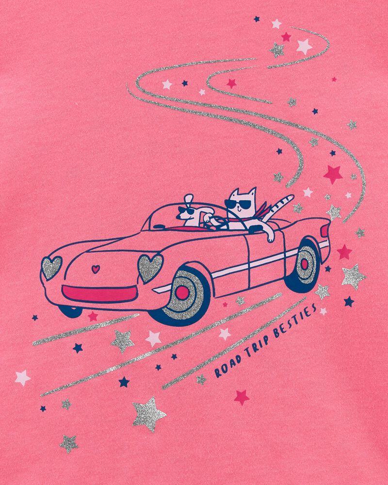 T-shirt en jersey à chat, , hi-res