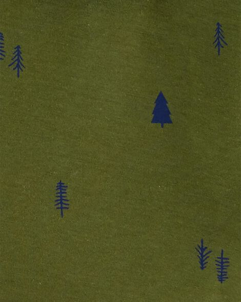 3-Piece Striped Fleece Vest & Pant Set