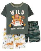 3-Piece Safari Loose Fit PJs, , hi-res