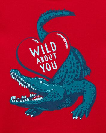 Wild About You Alligator Jersey Tee