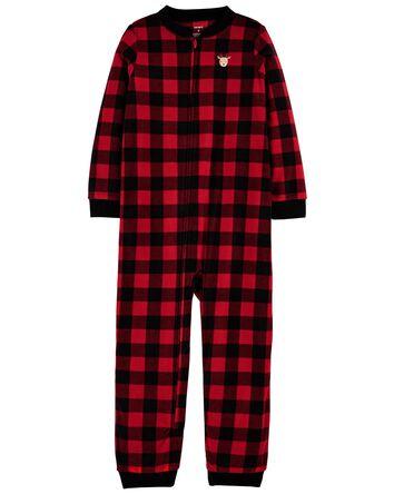 Pyjama 1 pièce à pied en molleton à...