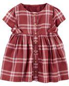 Plaid Bow Dress, , hi-res