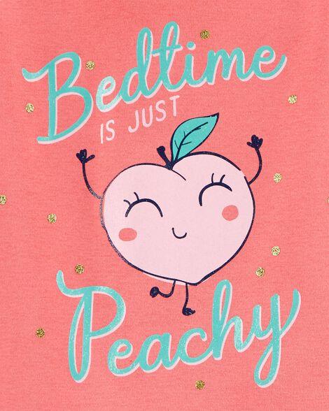 4-Piece Peach Snug Fit Cotton PJs