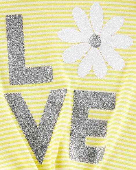 2-Piece Love Flutter Tie-Front Tee & Floral Legging Set