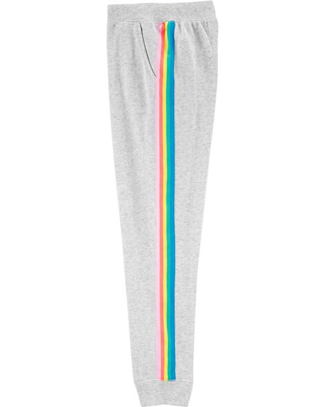 Pantalon de jogging à bordure arc-en-ciel