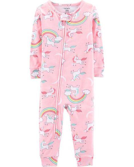 1-Piece Unicorn Snug Fit Cotton Footless PJs
