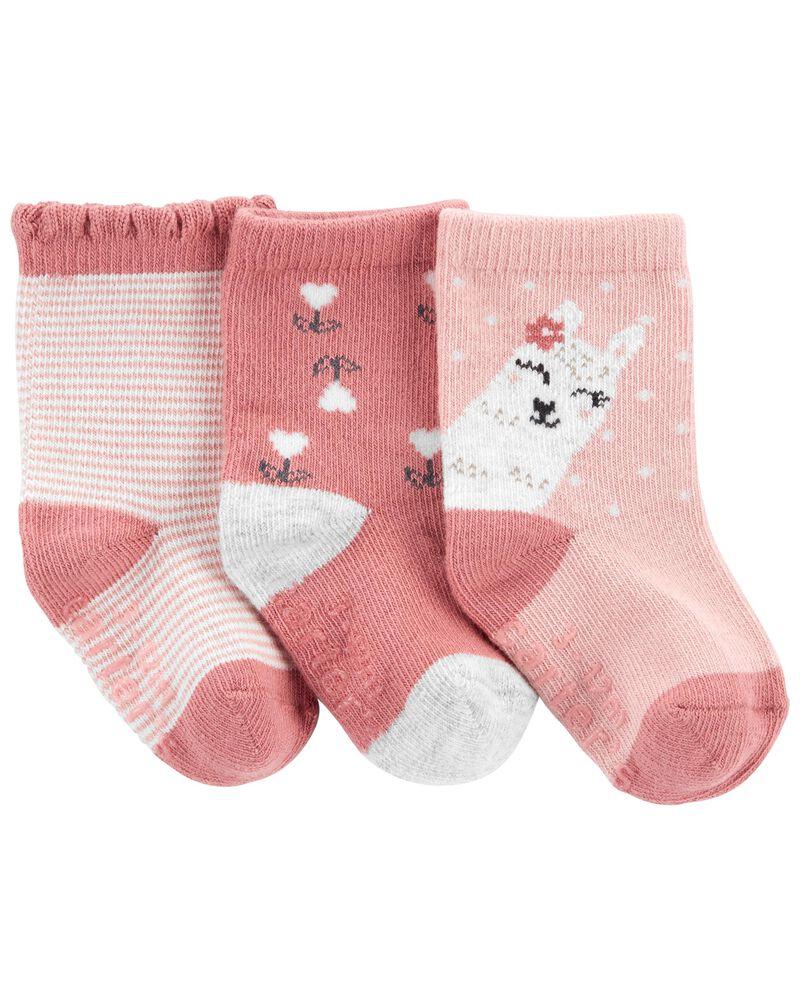 Emballage de 3 paires de chaussettes à lama, , hi-res