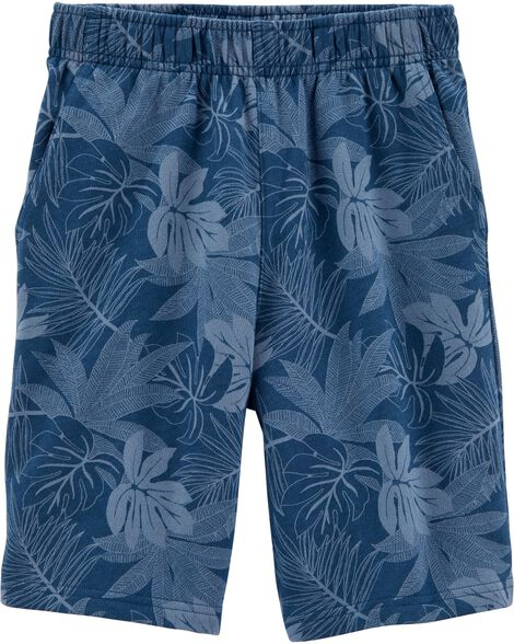 Pull-On Palm French Terry Shorts