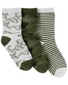 3-Pack Camo Crew Socks, , hi-res