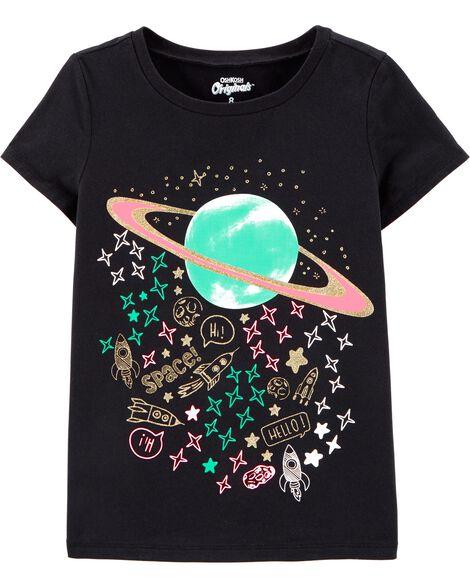T-shirt à imprimé original planète