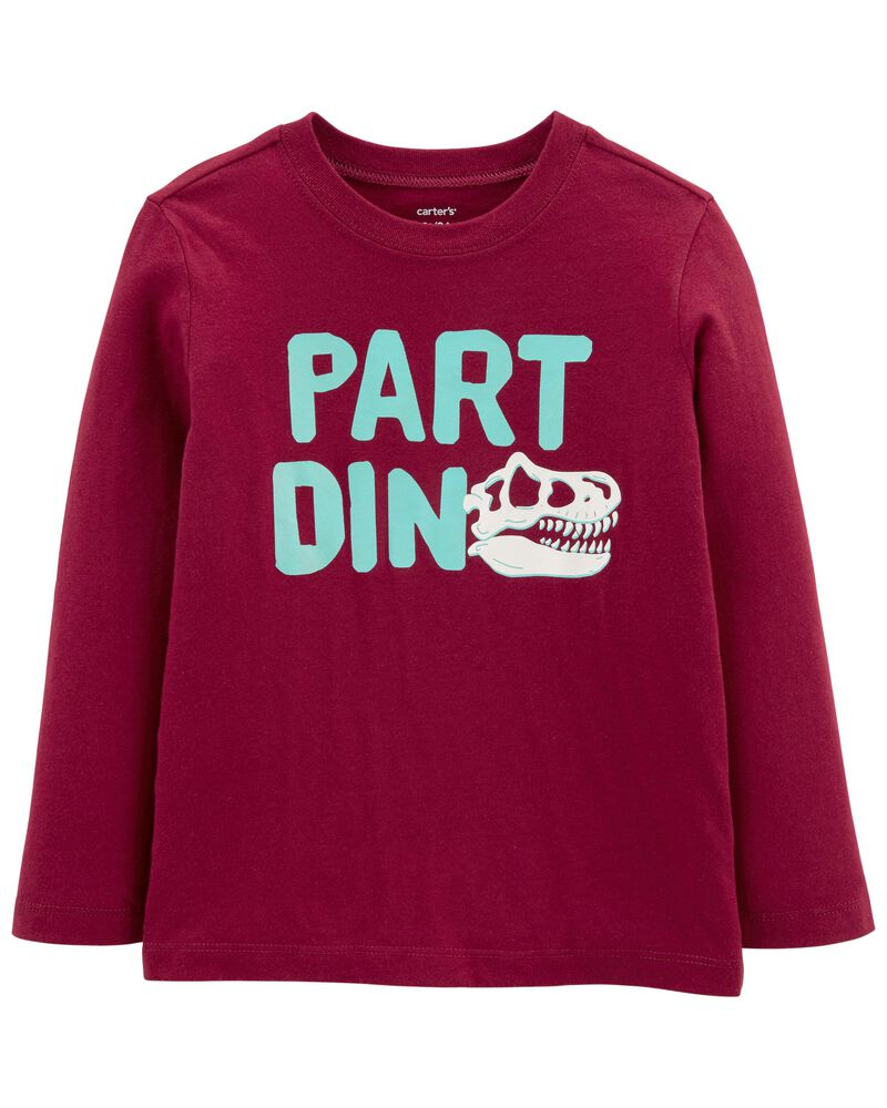 T-shirt en jersey avec dinosaure, , hi-res