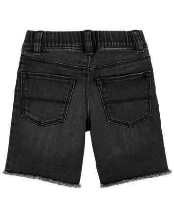 Short en tricot de denim déchiré