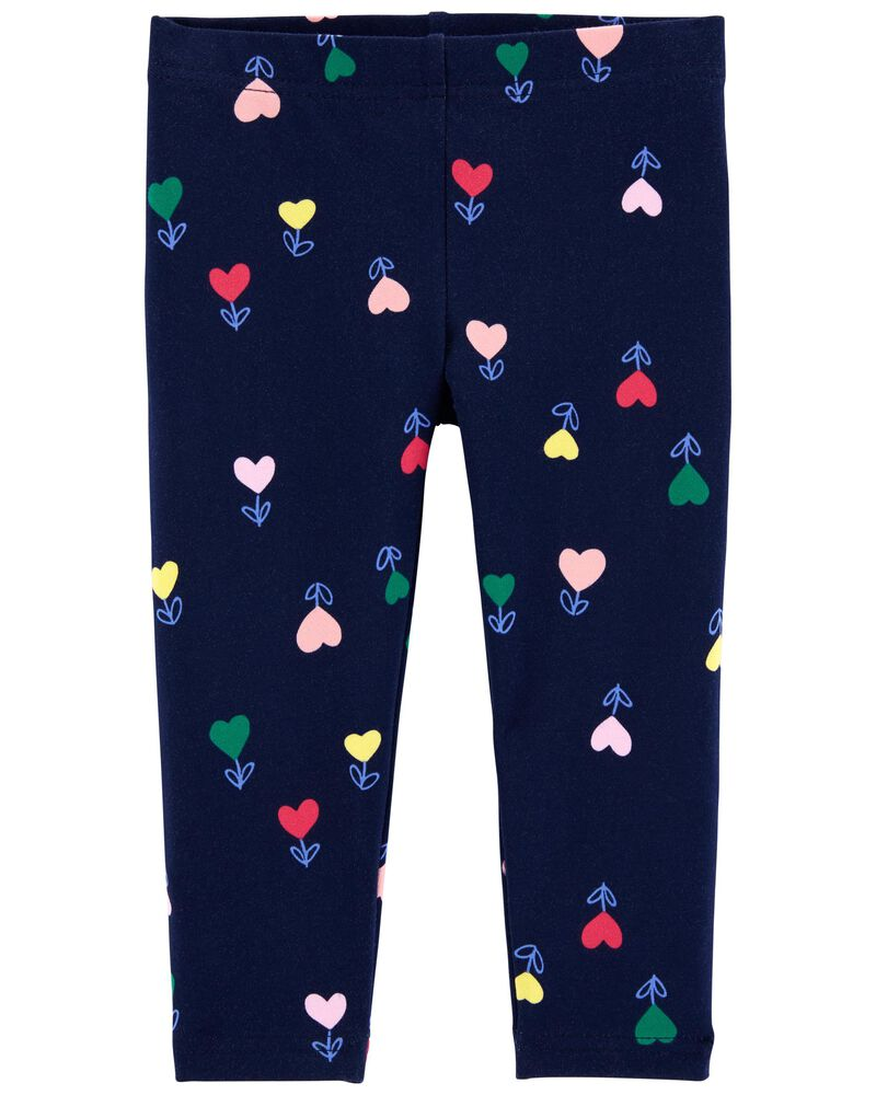 Heart Capri Leggings, , hi-res