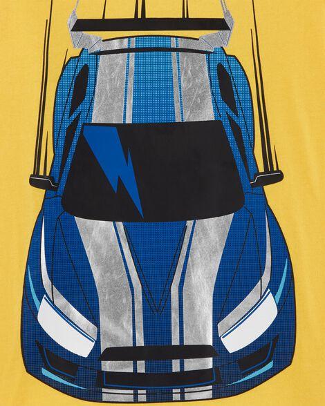 T-shirt de style superposé voiture de course