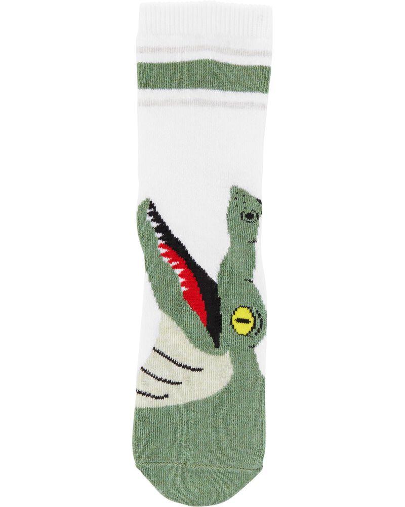 3 paires de chaussettes mi-mollet à motif d'animaux, , hi-res