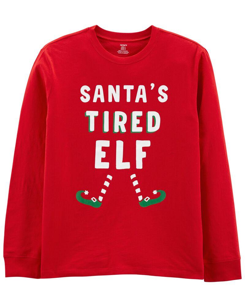 Adult Unisex Holiday Elf Jersey Tee, , hi-res