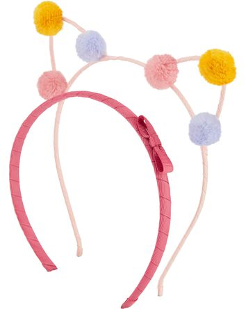 2-Pack Cat Ear Headbands