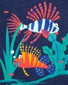 Fish Snow Yarn Jersey Tee, , hi-res