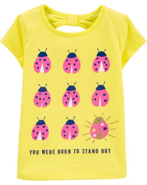 Ladybug Bow Back Jersey Tee