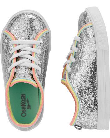 Silver Glitter Sneakers