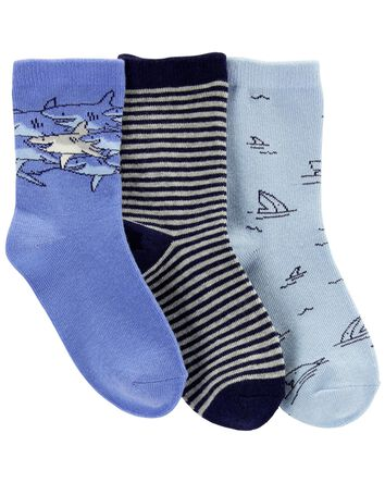 3-Pack Shark Crew Socks