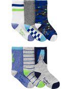6-Pack Neon Crew Socks, , hi-res