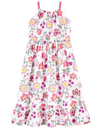 Robe bohémienne à volants fleurie