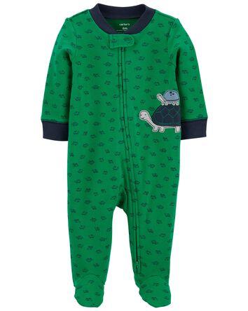 Turtle 2-Way Zip Cotton Sleep & Pla...