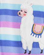 1-Piece Llama Fleece Footie PJs, , hi-res