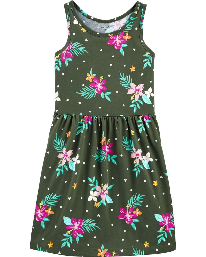 Floral Tank Jersey Dress, , hi-res