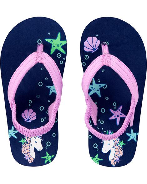 Sandales de plage à motif de licornes