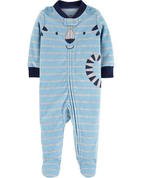 Tiger Zip-Up Fleece Sleep & Play