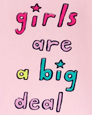 T-shirt en jersey Girls Are A Big D...