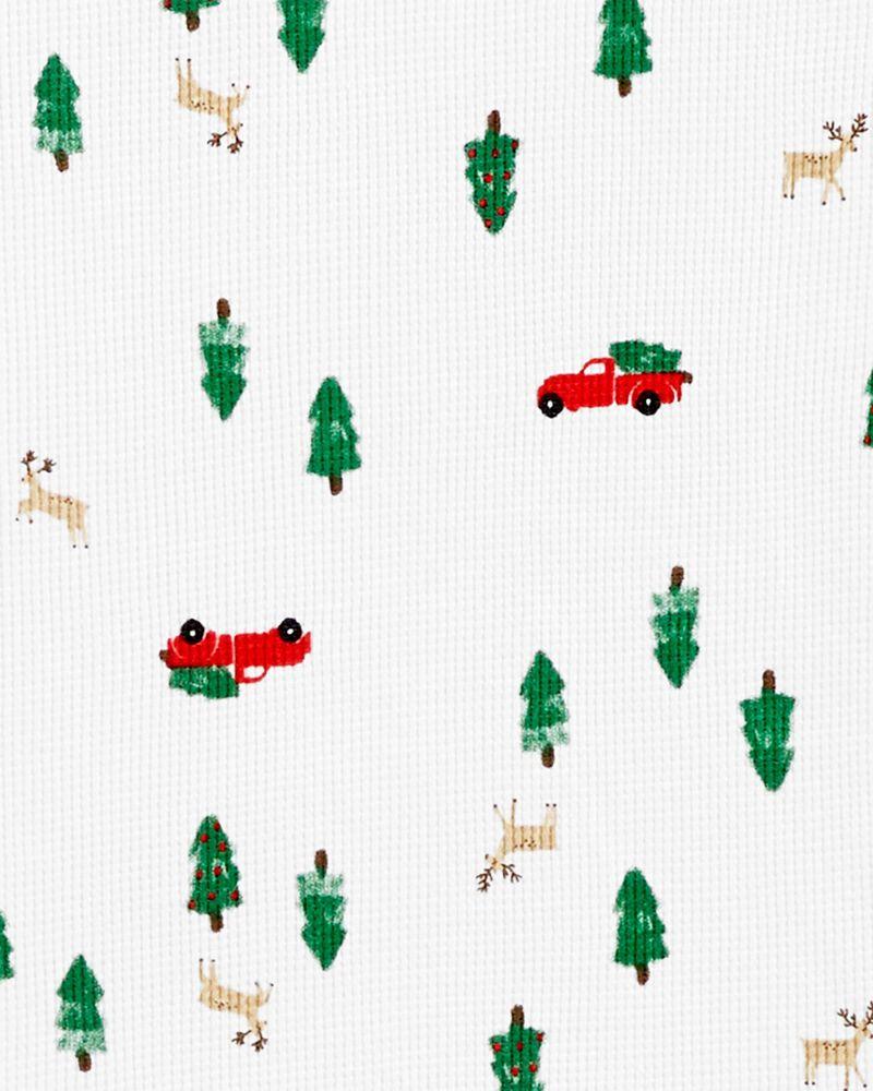 Pyjamas 2 pièces en coton ajusté des fêtes pour adulte, , hi-res