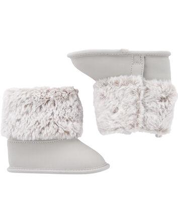 Faux Fur Trim Boots