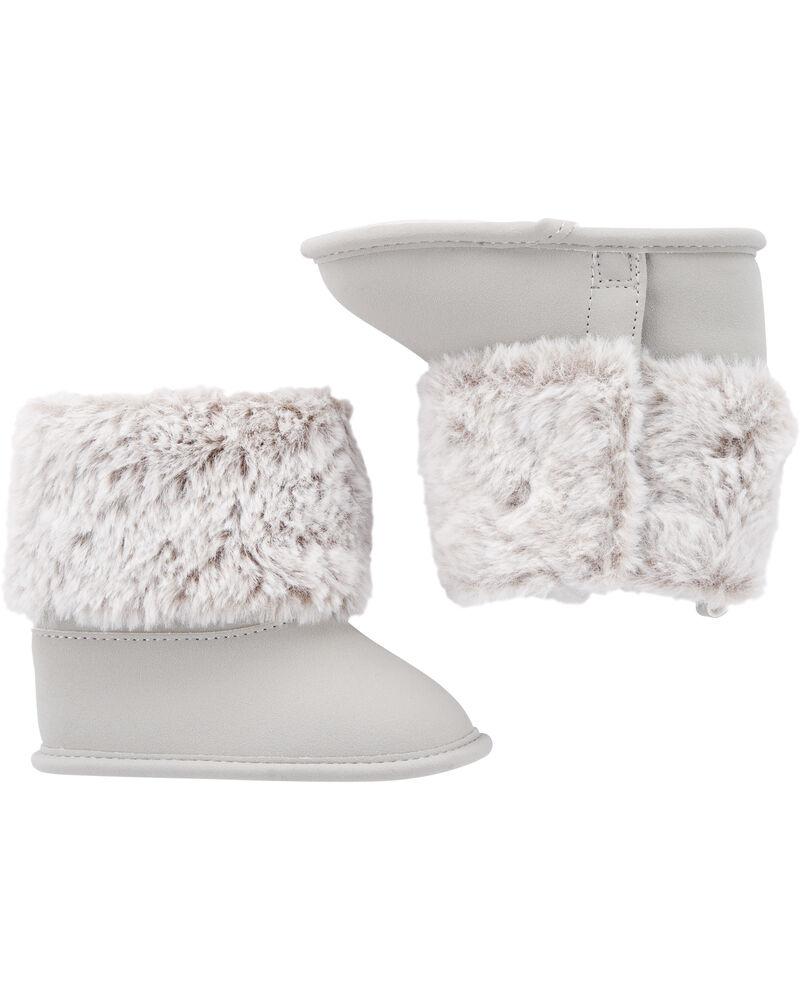 Faux Fur Trim Boots, , hi-res