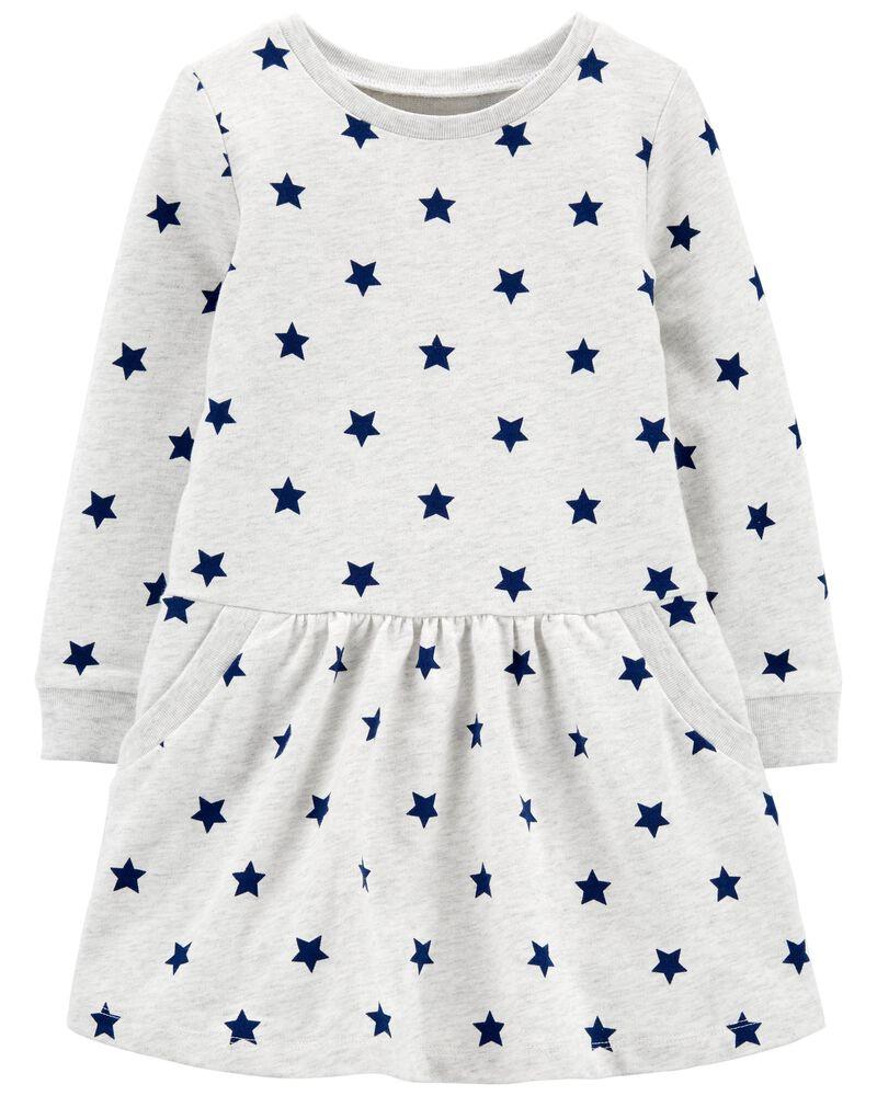 Long-Sleeve Cotton Dress, , hi-res