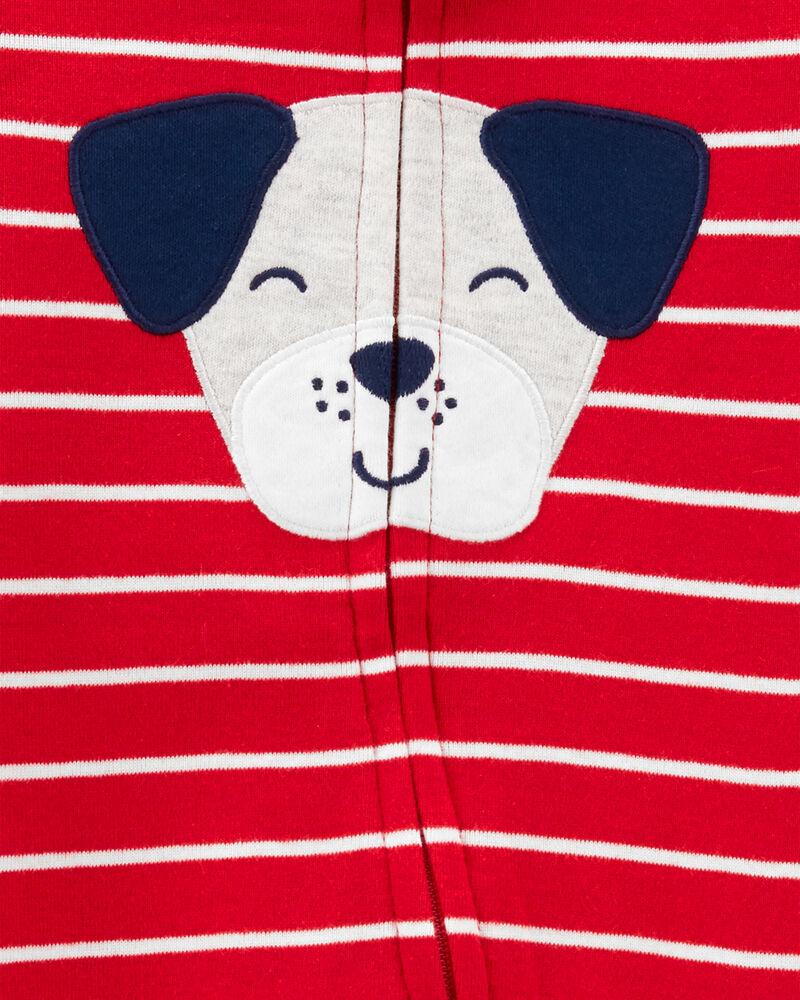 Dog 2-Way Zip Cotton Sleep & Play, , hi-res