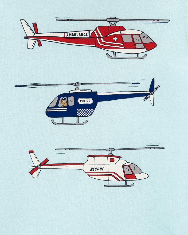 T-shirt en jersey hélicoptère, , hi-res
