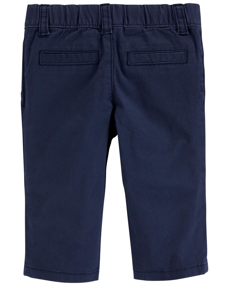 Flat-Front Chino Pants, , hi-res