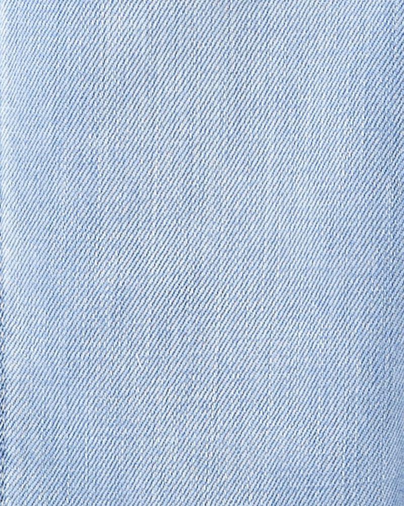 Crochet Trim Denim Overalls, , hi-res