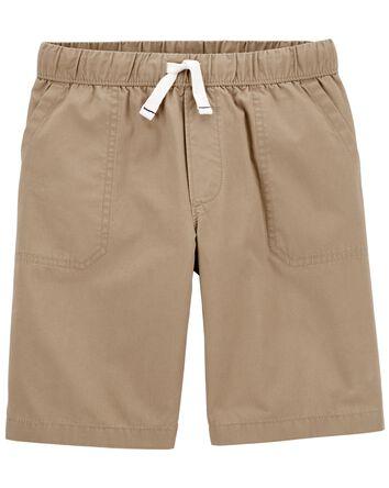 Easy Pull-On Poplin Shorts