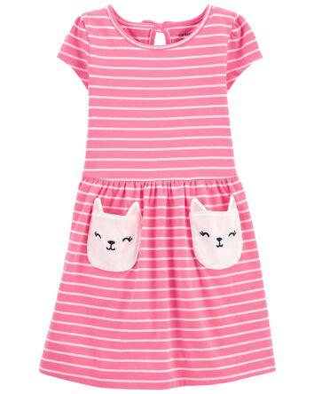 Cat Pocket Dress