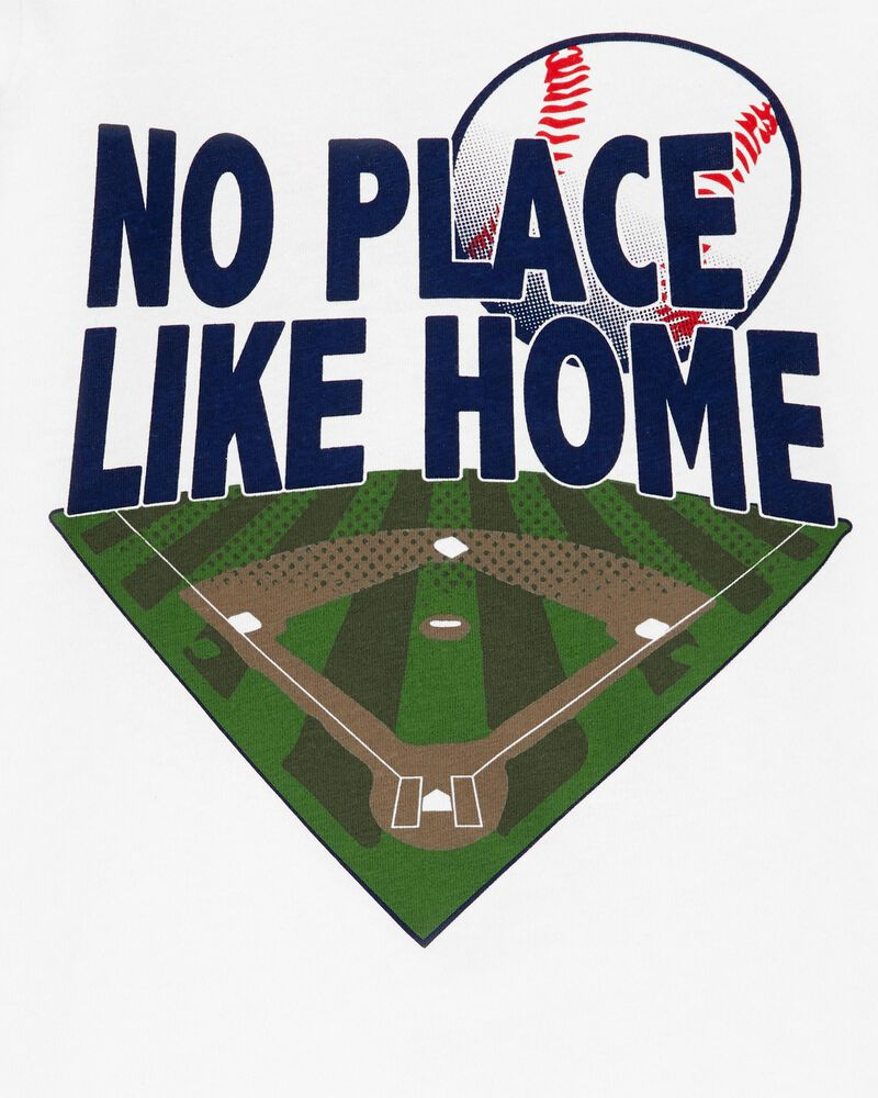 T-shirt de baseball en jersey No Place Like Home , , hi-res